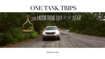 Honda One Tank Trips Sweepstakes TV Spot, 'Sleeping Lady Resort: 2015 CR-V' - Thumbnail 3
