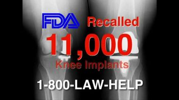 The Cochran Law Firm TV Spot, 'Knee Replacement Recall'