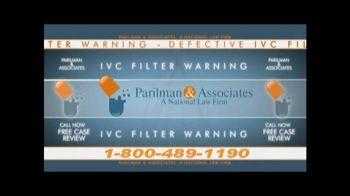 Parilman & Associates TV Spot, 'IVC Filter'