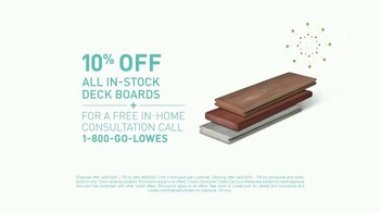 Lowe's Summer Savings TV Spot, 'Deck Boards and Charcoal' - Thumbnail 3