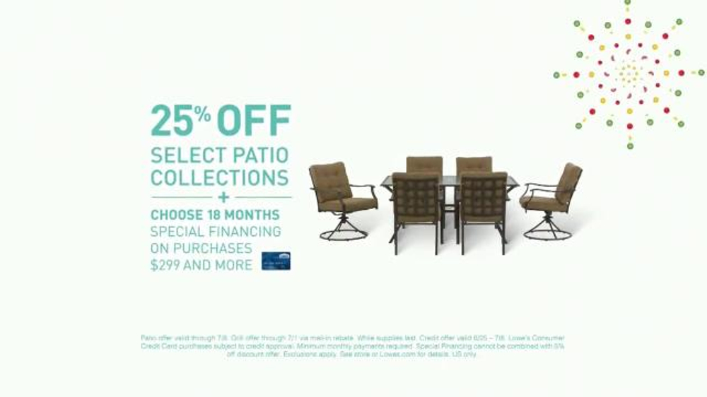 Loweu0027s Summer Savings TV Commercial, U0027Patio Collections And Grillsu0027    ISpot.tv