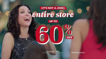 Old Navy TV Spot, 'No Joke' Featuring Julia Louis-Dreyfus - Thumbnail 8