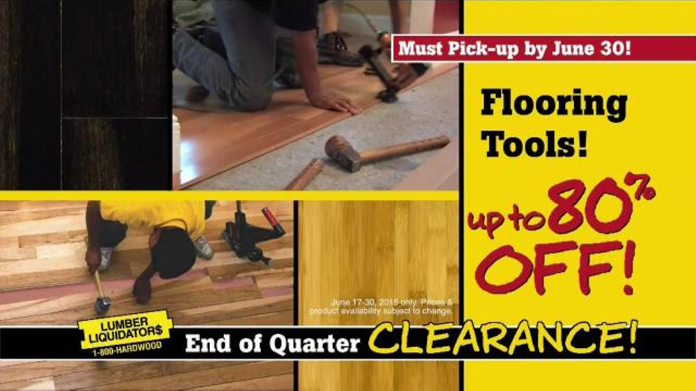 Lumber Liquidators End of Quarter Clearance TV Commercial, 'Every Floor on Sale'