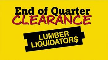 Lumber Liquidators End of Quarter Clearance TV Spot, 'Every Floor on Sale' - Thumbnail 2