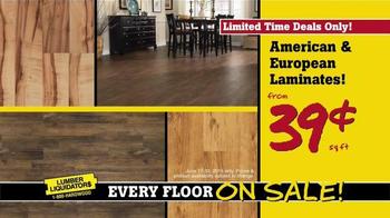 Lumber Liquidators End of Quarter Clearance TV Spot, 'Every Floor on Sale' - Thumbnail 5