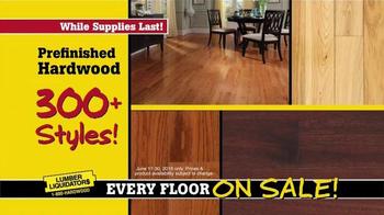 Lumber Liquidators End of Quarter Clearance TV Spot, 'Every Floor on Sale' - Thumbnail 6
