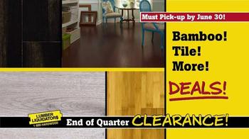 Lumber Liquidators End of Quarter Clearance TV Spot, 'Every Floor on Sale' - Thumbnail 9