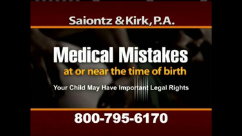 Saiontz & Kirk, P.A. TV Spot, 'Cerebral Palsy, Erb's Palsy, Birth Injury' - Thumbnail 2