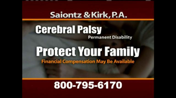 Saiontz & Kirk, P.A. TV Spot, 'Cerebral Palsy, Erb's Palsy, Birth Injury' - Thumbnail 4