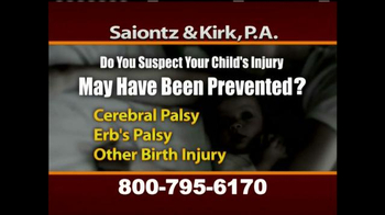 Saiontz & Kirk, P.A. TV Spot, 'Cerebral Palsy, Erb's Palsy, Birth Injury' - Thumbnail 6