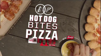 Pizza Hut Hot Dog Bites Pizza TV Spot, 'Two Classics' - Thumbnail 9