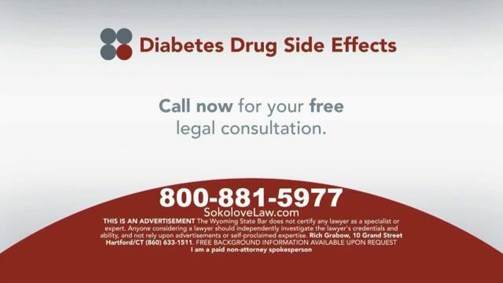 Pulaski Law Firm >> Sokolove Law TV Commercial, 'Diabetes Drug Side Effects' - iSpot.tv