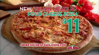 Papa John's Italian Meats & Four Cheese Pizza TV Spot - 1144 commercial airings