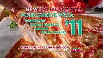 Papa John's Italian Meats & Four Cheese Pizza TV Spot - Thumbnail 8