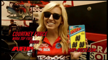 ARP Bolts TV Spot Featuring John and Courtney Force - 303 commercial airings