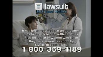 iLawsuit Legal Hotline TV Spot, 'Yaz' - Thumbnail 4
