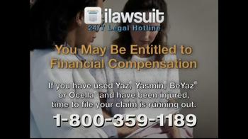 iLawsuit Legal Hotline TV Spot, 'Yaz' - Thumbnail 8