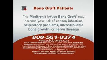 Sokolove Law TV Spot, 'Bone Graft Patients' - Thumbnail 2