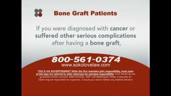 Sokolove Law TV Spot, 'Bone Graft Patients' - Thumbnail 3
