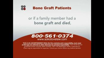 Sokolove Law TV Spot, 'Bone Graft Patients' - Thumbnail 4