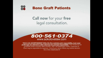 Sokolove Law TV Spot, 'Bone Graft Patients' - Thumbnail 6