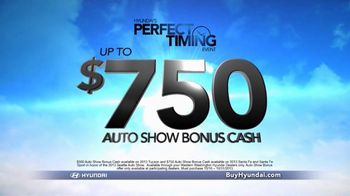 Hyundai Perfect Timing Event TV Spot, 'Auto Show Bonus Cash' - Thumbnail 2