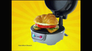 Hamilton Beach Breakfast Sandwich Maker TV Spot