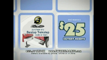 4 Wheel Parts Bestop Trekstep TV Spot