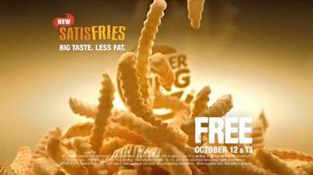 Burger King Satisfries TV Spot, 'Free Weekend' - 384 commercial airings