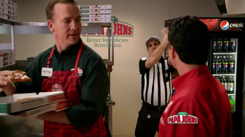 Papa John's TV Spot, 'Referee' Featuring Peyton Manning - Thumbnail 9
