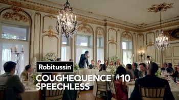 Robitussin DM Max TV Spot, 'Coughequence 10: Speechless' - 1864 commercial airings