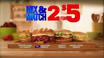 Burger King Pulled Pork Sandwich TV Spot, '2 for $5: What You're Craving' - Thumbnail 3