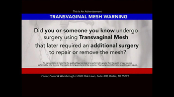 Ferrer, Poirot and Wansbrough TV Spot, 'Transvaginal Mesh' - Thumbnail 2