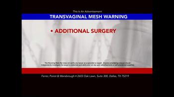 Ferrer, Poirot and Wansbrough TV Spot, 'Transvaginal Mesh' - Thumbnail 5