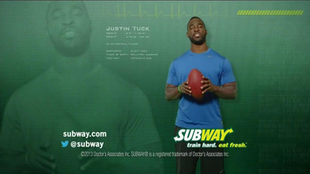 Subway TV Spot, 'Welcome' ft Jarvis Jones, Robert Grffin III, Justin Tuck - Thumbnail 10