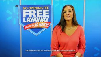 Walmart TV Spot, 'Free Layaway'