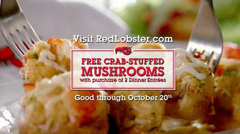 Red Lobster Crabfest TV Spot, 'Crab Stuffed Mushrooms' - Thumbnail 9