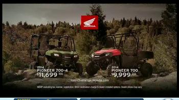 2014 Honda Pioneer 700-4 TV Spot, 'Flip Seating' - Thumbnail 6
