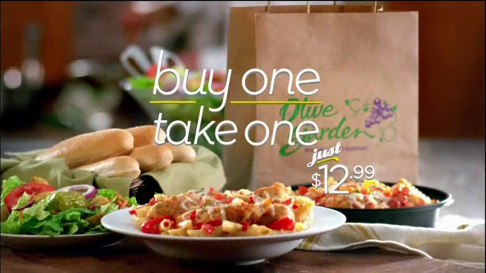 Olive Garden Never End Pasta Bowl TV Commercial, 'Buy One, Take One'