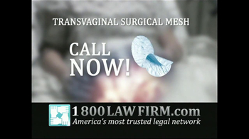1-800-LAW-FIRM TV Spot, 'Transvaginal Surgical Mesh' - Thumbnail 4