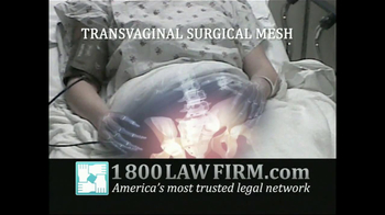 1-800-LAW-FIRM TV Spot, 'Transvaginal Surgical Mesh' - Thumbnail 3