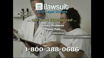iLawsuit Legal Hotline TV Spot, 'Surgical Mesh'
