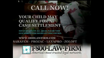 1-800-LAW-FIRM TV Spot, 'Anti-Depressants'