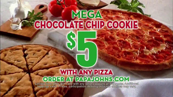 Papa John's Mega Chocolate Chip Cookie TV Spot - Thumbnail 5