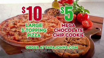 Papa John's Mega Chocolate Chip Cookie TV Spot - Thumbnail 8