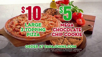 Papa John's Mega Chocolate Chip Cookie TV Spot - Thumbnail 9