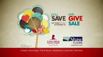 Shaw Flooring You Save We Give Sale TV Spot, 'St. Jude'