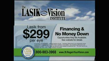 The LASIK Vision Institute TV Spot, '$299'