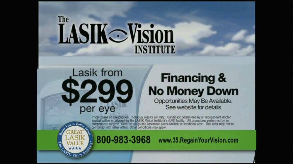 The LASIK Vision Institute TV Commercial, '$299'