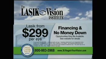 The LASIK Vision Institute TV Spot, '$299' - Thumbnail 9